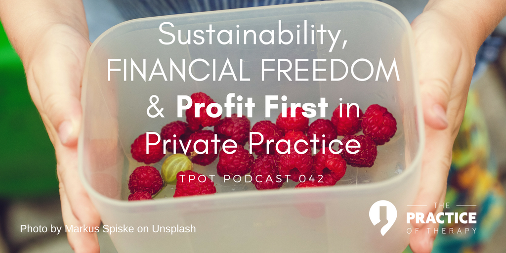 sustainability, financial freedom & profit first